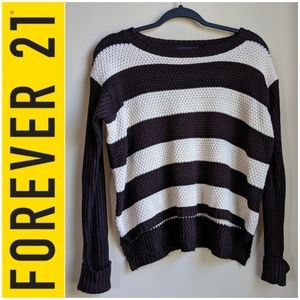 Forever 21 Pullover striped chunky knit sweater
